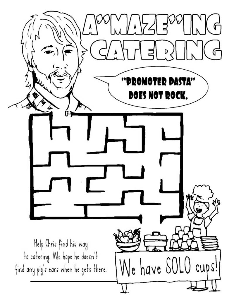 Foo Fighters Tour Rider Coloring Book