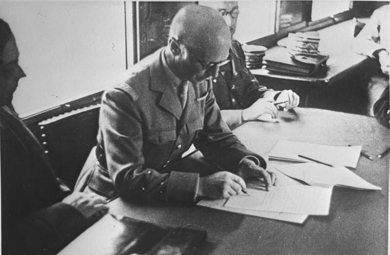 general charles huntziger signs the armistice in a rail car This Day In History   June 22nd