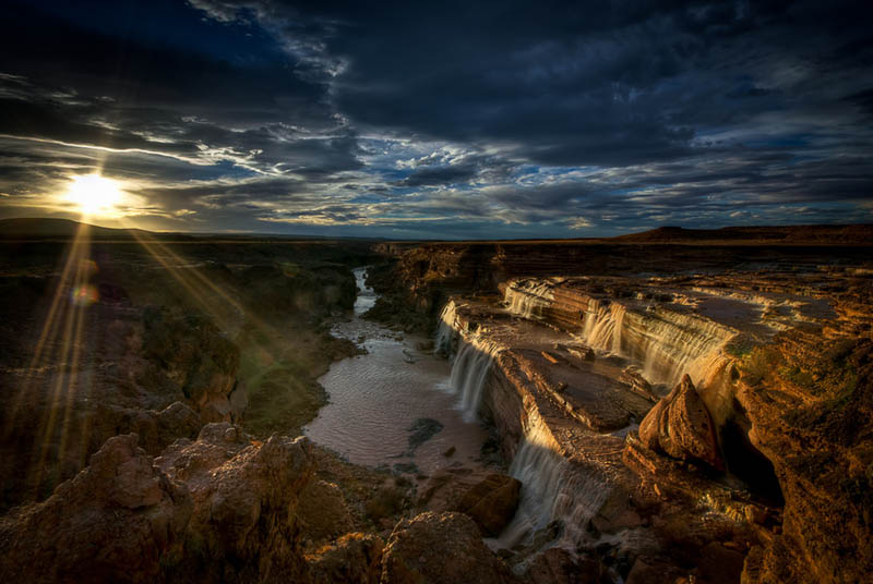 grand falls arizona sunset Picture of the Day: Sunset at Grand Falls, Arizona