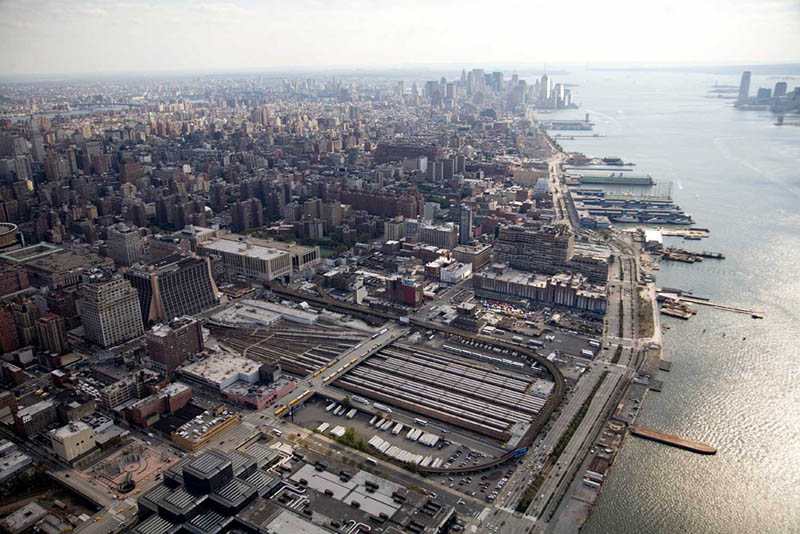 high line rail yards aerial The High Line: New Yorks Park in the Sky [25 pics]