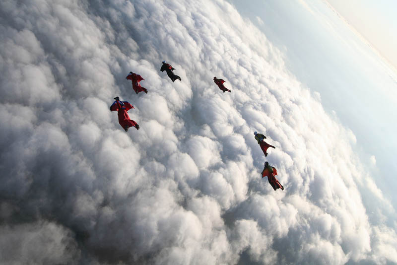 wingsuit flying above the clouds The Ultimate Wingsuit Flying Video