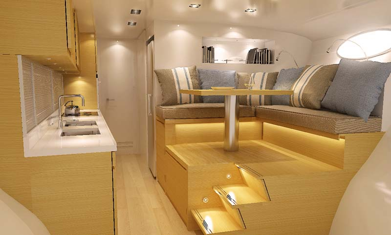 adastra interior trimaran The Trimaran Adastra Superyacht by John Shuttleworth [17 pics]