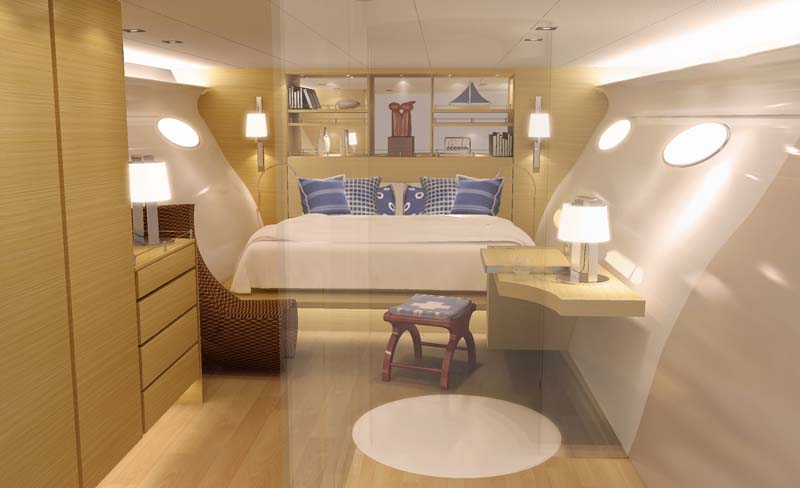 adastra interior The Trimaran Adastra Superyacht by John Shuttleworth [17 pics]
