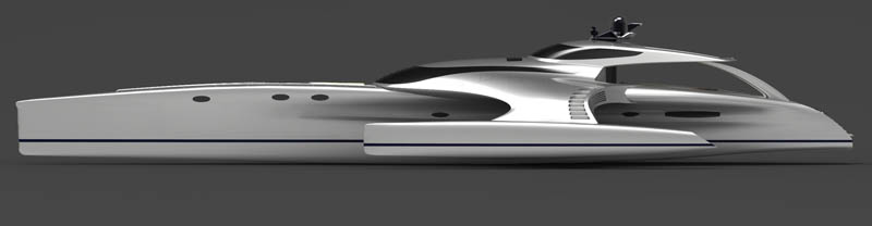 adastra superyacht john shuttleworth yacht designs power trimaran10 The Trimaran Adastra Superyacht by John Shuttleworth [17 pics]