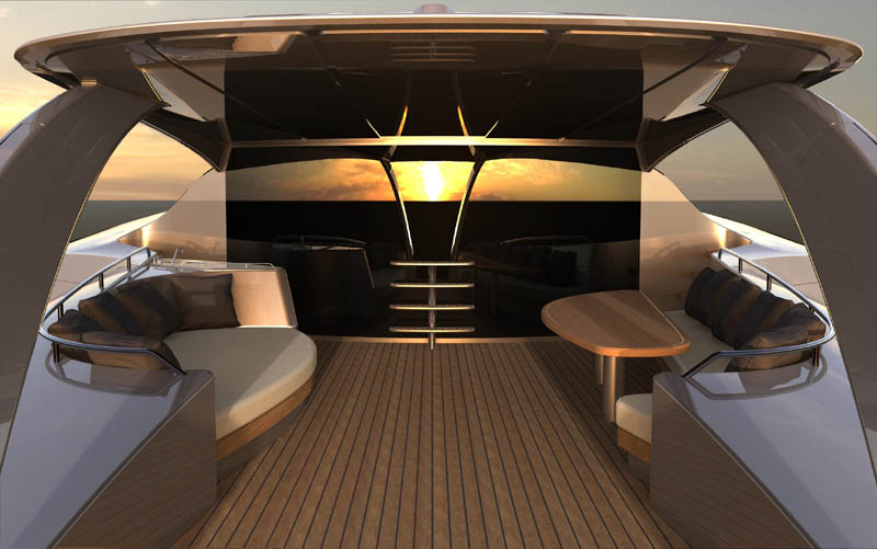 Adastra Superyacht John Shuttleworth Yacht Designs Power Trimaran15