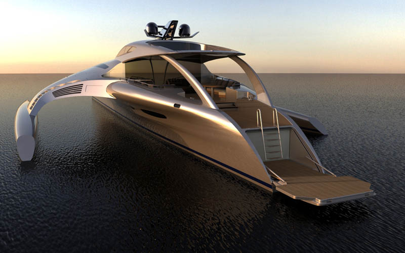 adastra superyacht john shuttleworth yacht designs power trimaran19 Orsos: The Moveable Floating Island