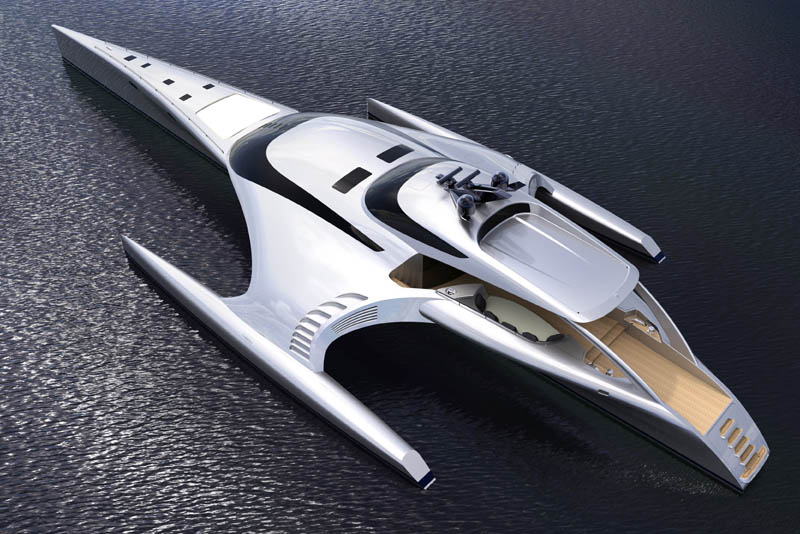 adastra superyacht john shuttleworth yacht designs power trimaran5 The Trimaran Adastra Superyacht by John Shuttleworth [17 pics]