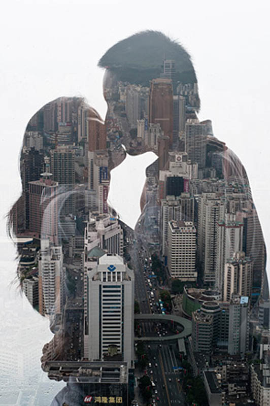 city silhouettes jasper james reflections of city on people 1 Stunning City Silhouettes by Jasper James