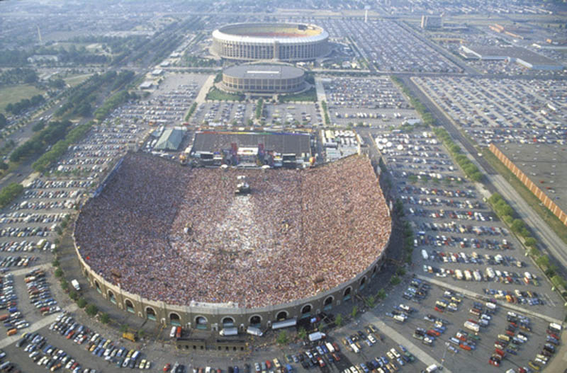 live aid concert aerial jfk stadium philadelphia This Day In History   July 13th