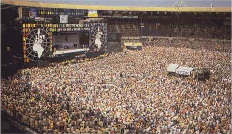 live aid concert wembley stadium aerial This Day In History   July 13th