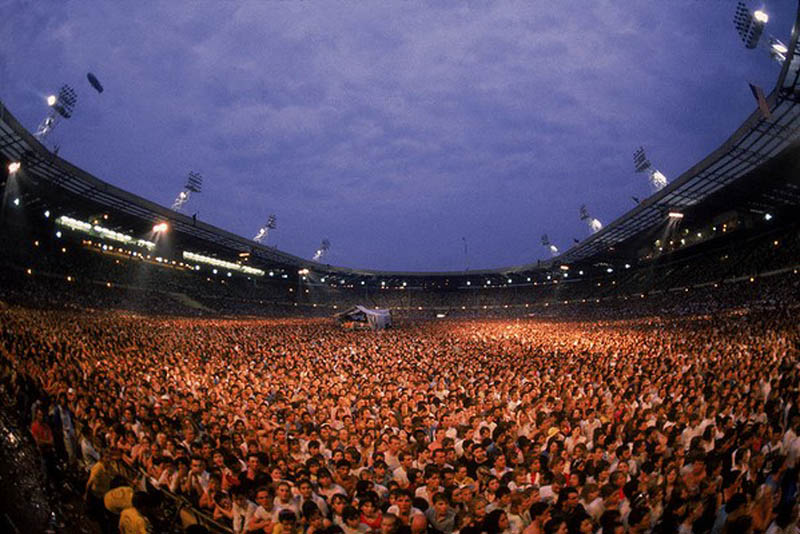 live aid wembley stadium crowd shot This Day In History   July 13th