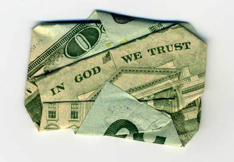 money currency art dan tague in god we trust Money Talks: Amazing Dollar Bill Art of Dan Tague [21 pics]