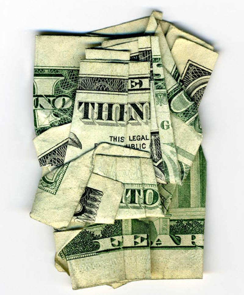 money currency art dan tague nothing to fear Money Talks: Amazing Dollar Bill Art of Dan Tague [21 pics]