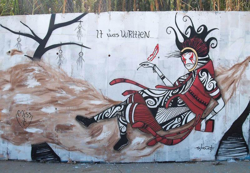 skount street art illustrations graffiti 10 Astonishing Street Art Murals by Skount