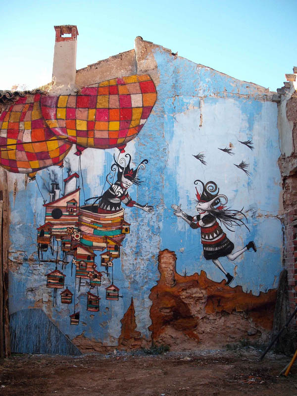 skount street art illustrations graffiti 11 Astonishing Street Art Murals by Skount