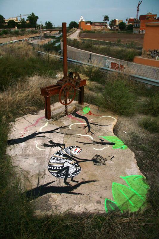 skount street art illustrations graffiti 15 Astonishing Street Art Murals by Skount