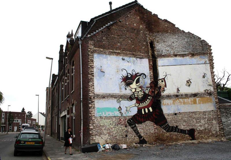 skount street art illustrations graffiti 18 Astonishing Street Art Murals by Skount