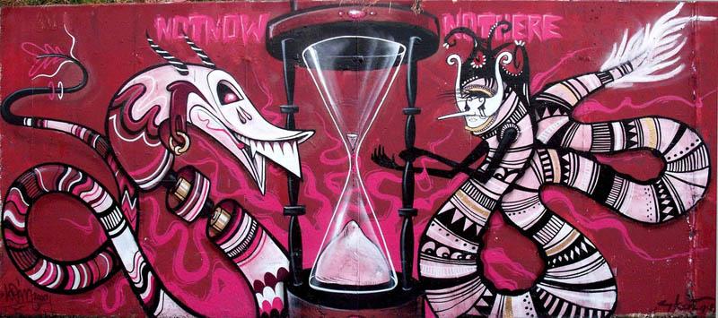 skount street art illustrations graffiti 19 Astonishing Street Art Murals by Skount