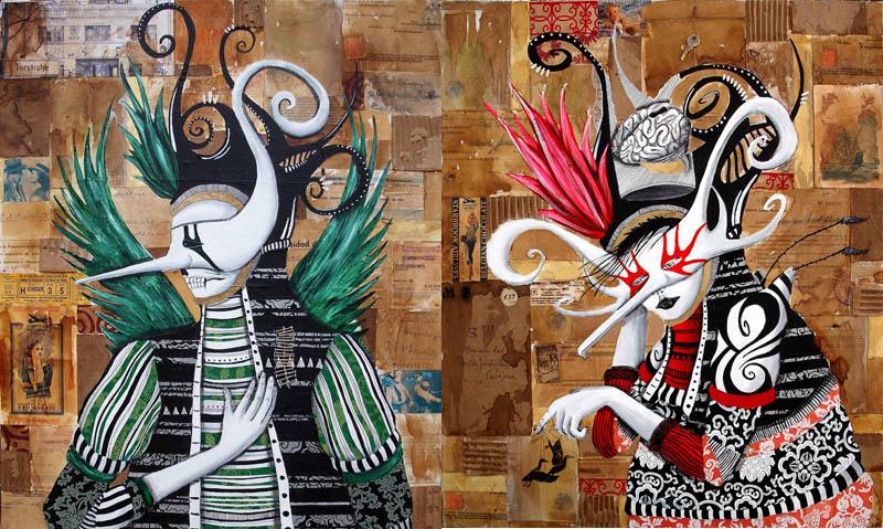 skount street art illustrations graffiti 2 Astonishing Street Art Murals by Skount