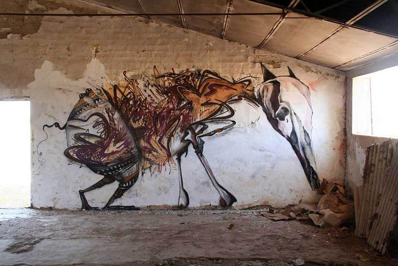 skount street art illustrations graffiti 20 Astonishing Street Art Murals by Skount