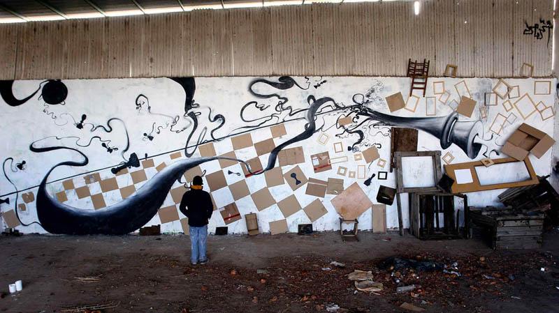 skount street art illustrations graffiti 21 Astonishing Street Art Murals by Skount