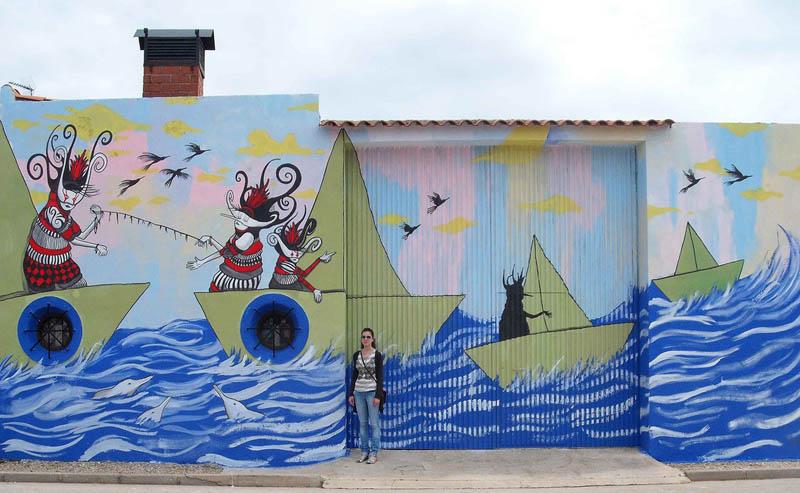 skount street art illustrations graffiti 22 Astonishing Street Art Murals by Skount
