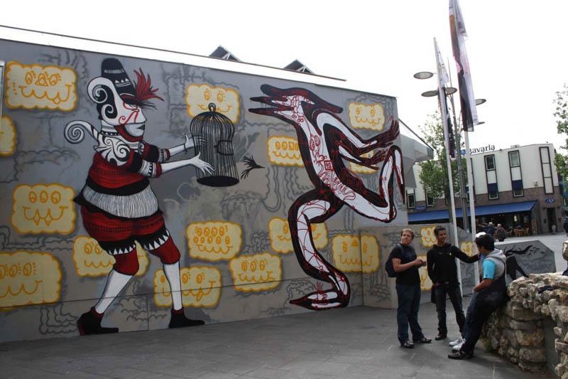 skount street art illustrations graffiti 24 Astonishing Street Art Murals by Skount