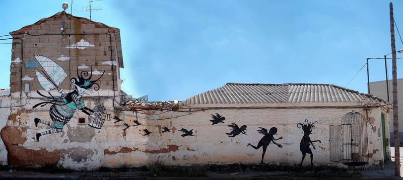 skount street art illustrations graffiti 25 Astonishing Street Art Murals by Skount
