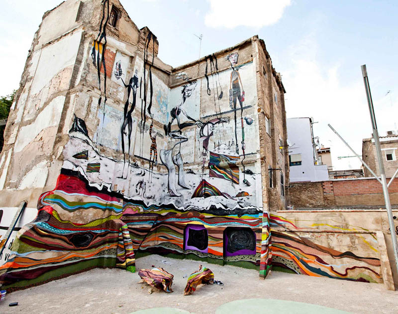 skount street art illustrations graffiti 4 Astonishing Street Art Murals by Skount