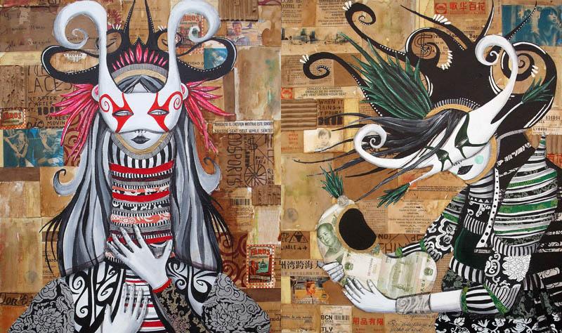 skount street art illustrations graffiti 5 Astonishing Street Art Murals by Skount