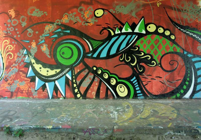 skount street art illustrations graffiti 9 Astonishing Street Art Murals by Skount