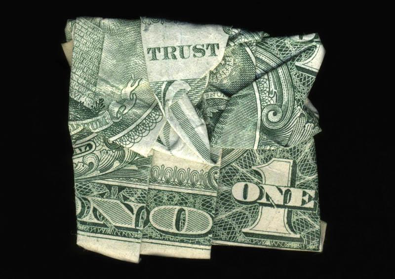 trust no one Money Talks: Amazing Dollar Bill Art of Dan Tague [21 pics]