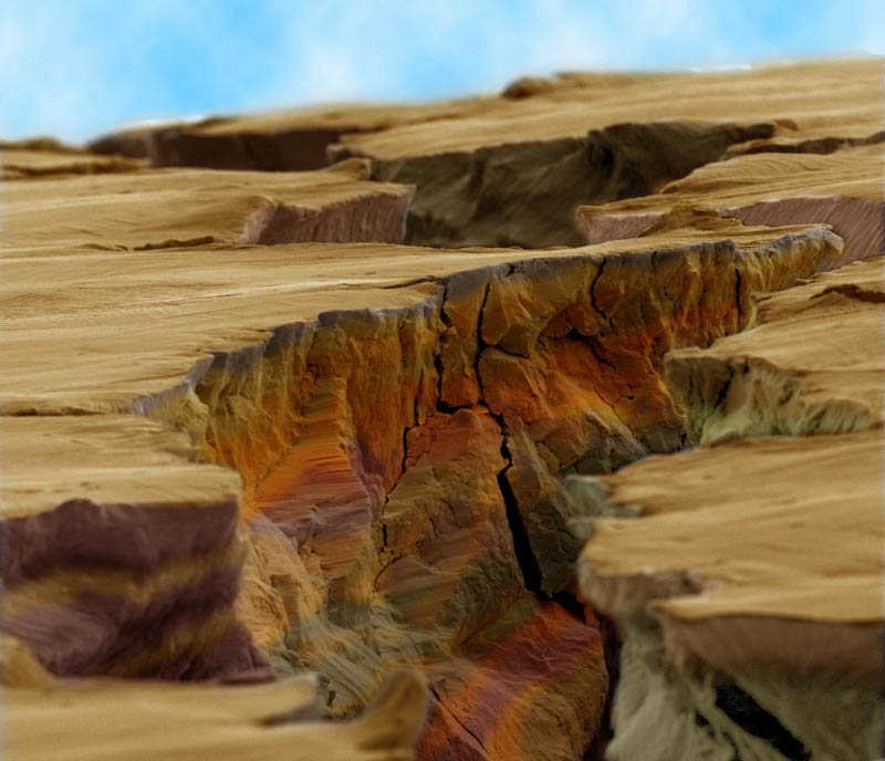 2011 grand prize winner microcanyon crack in steel martina dienstleder Incredible Examples of Electron Microscope Photography