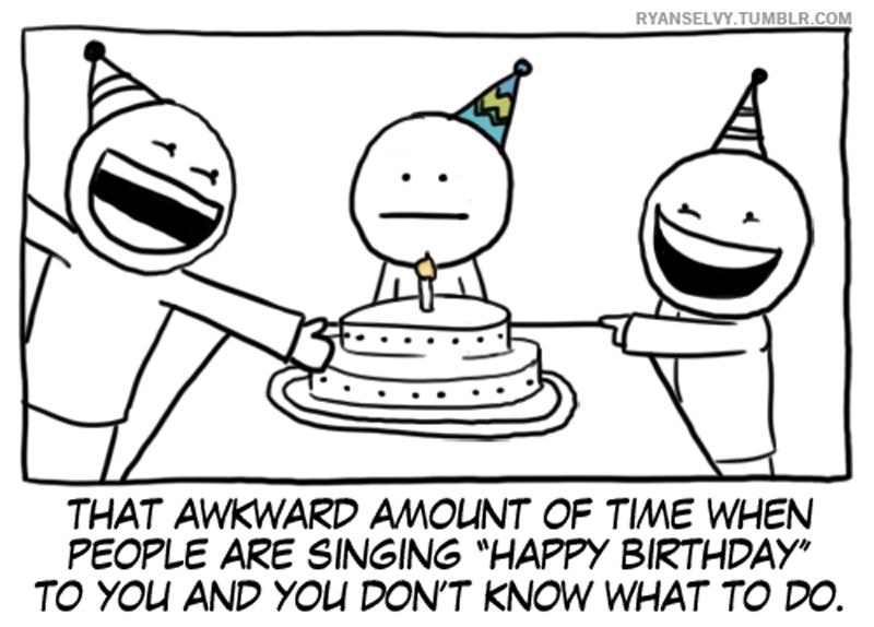 Birthday comic strip