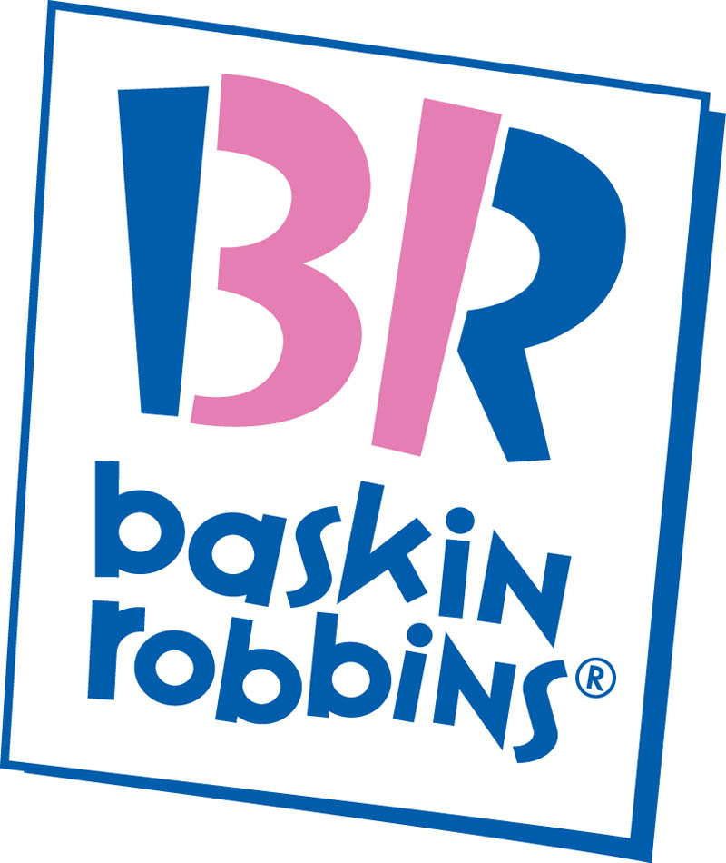 baskin robbins logo large 20 Clever Logos with Hidden Symbolism