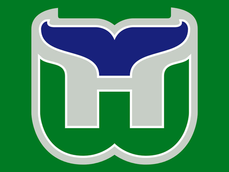 hartford whalers logo large 20 Clever Logos with Hidden Symbolism