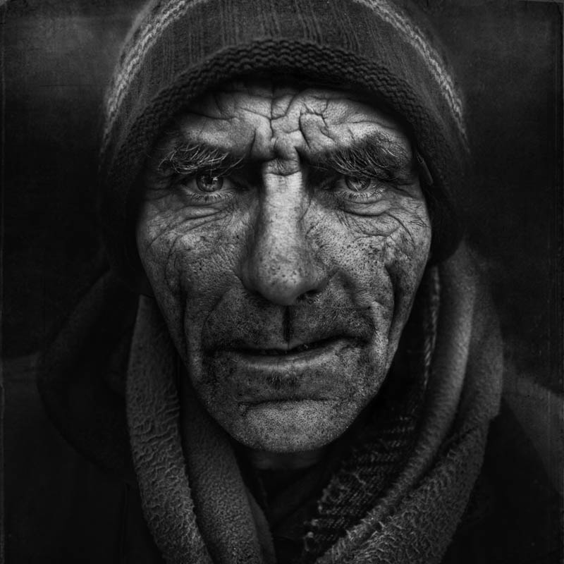 Black And White Portraits Homeless