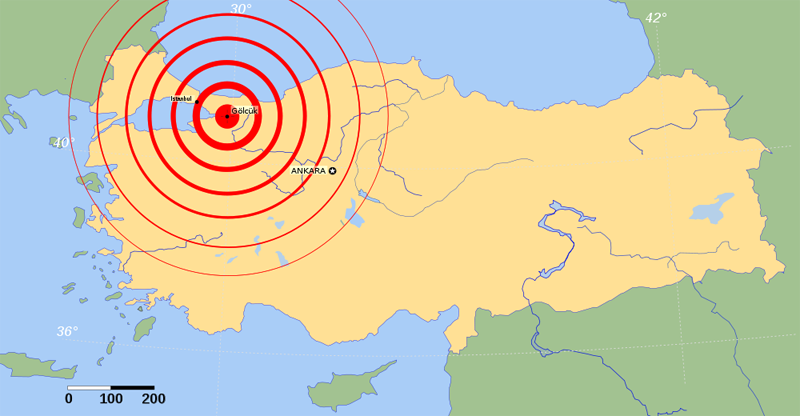 izmit earthquake 1999 Departing from current practice, we include the time-dependent effect of stress  transferred by the 1999 moment magnitude m=74 izmit earthquake to faults.