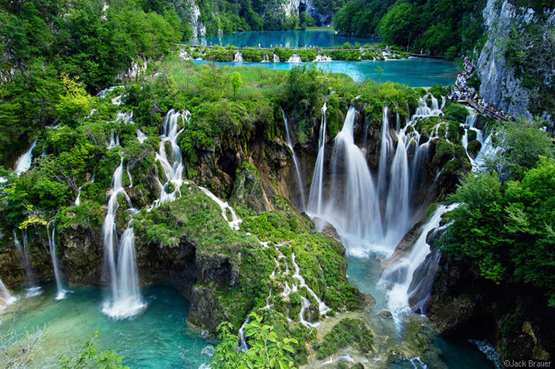 Plitvička jezera прирoдная достопримечательность Хорватии