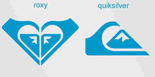 roxy quicksilver logo 20 Clever Logos with Hidden Symbolism