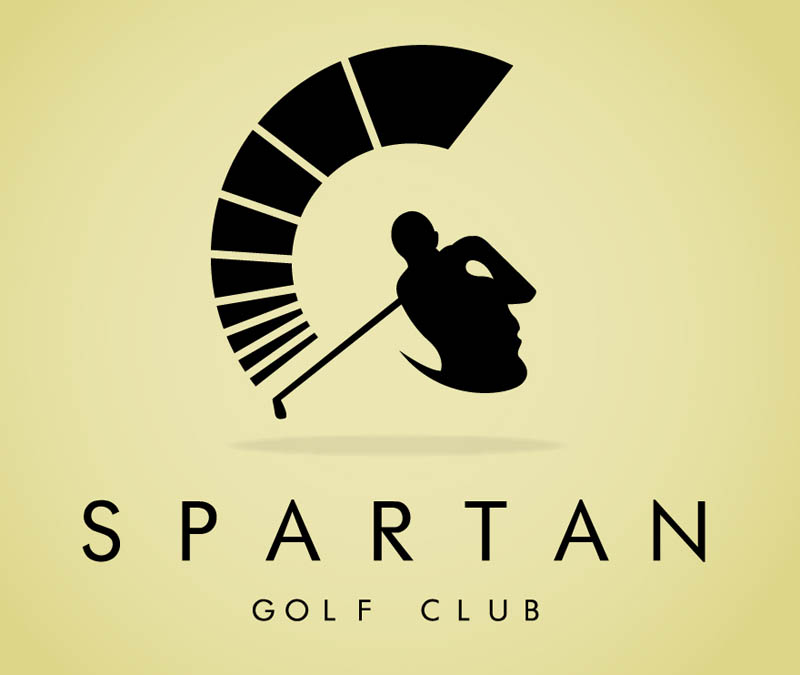 spartan golf logo large Clever Animal Illustrations Using Negative Space