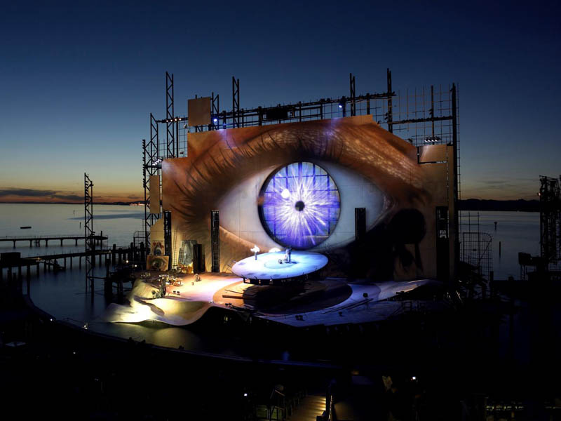 stage on the lake opera tosca bregenz The Opera on the Lake Stages of Bregenz