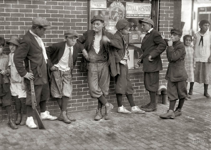 Picture of the Day: Vintage Street Gang from1916