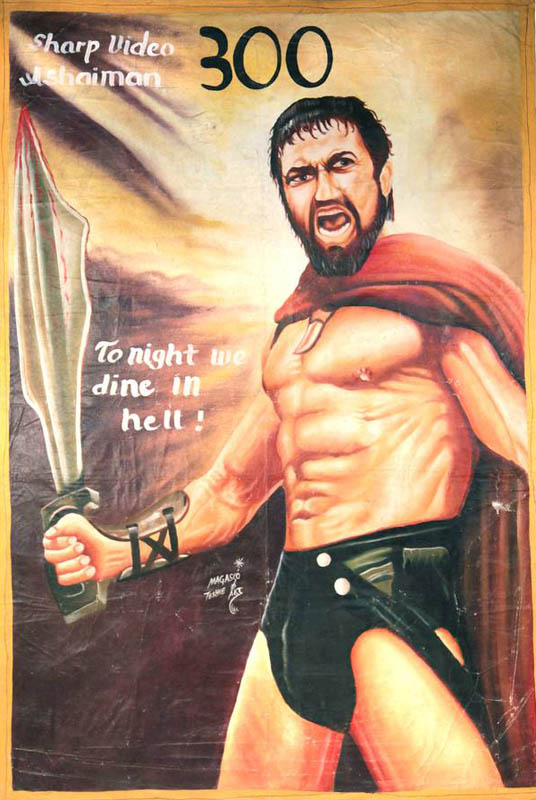 300 Bootleg Movie Posters from Ghana