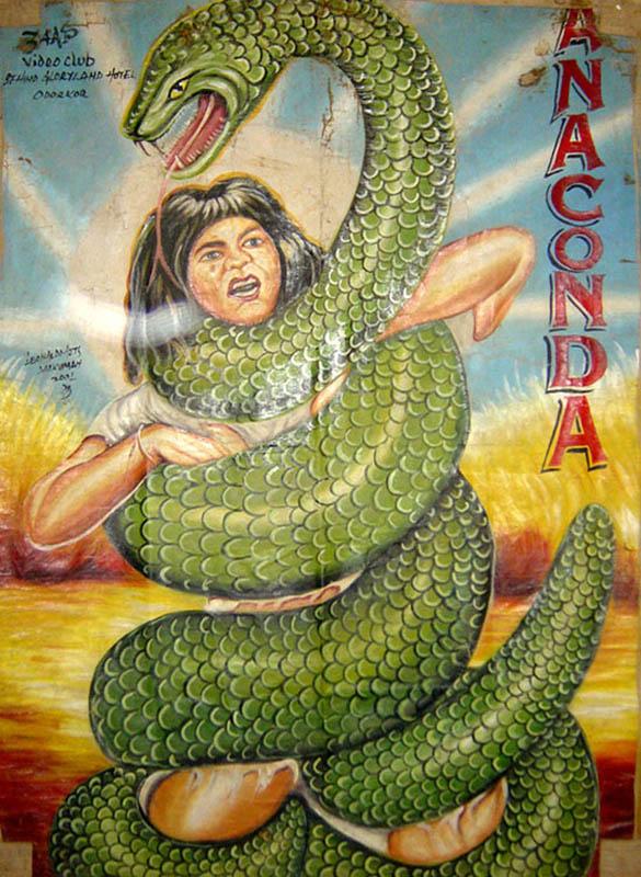 anaconda Bootleg Movie Posters from Ghana
