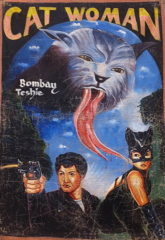 catwoman Bootleg Movie Posters from Ghana
