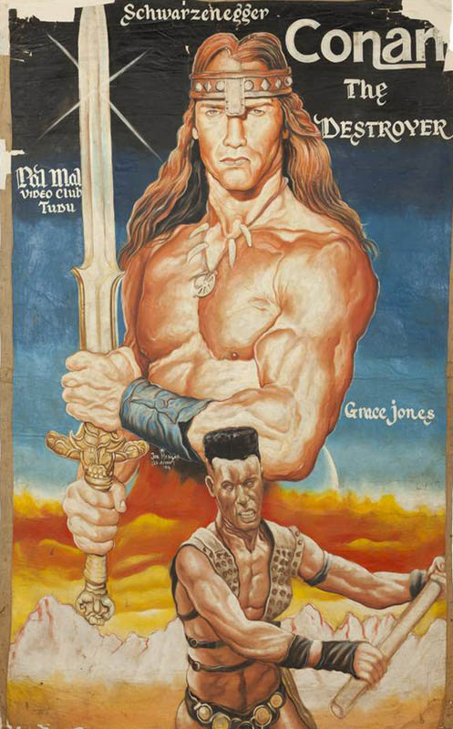 conan the destroyer Bootleg Movie Posters from Ghana