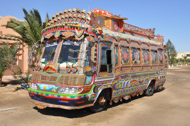 decorative pakistan truck art 7 This Guy Used 50,000 Pieces of Wood and Made Himself a Wooden Beetle