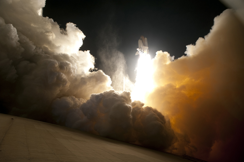 Picture of the Day: Awesome Dutch Angle Shot of Endeavour Space Launch