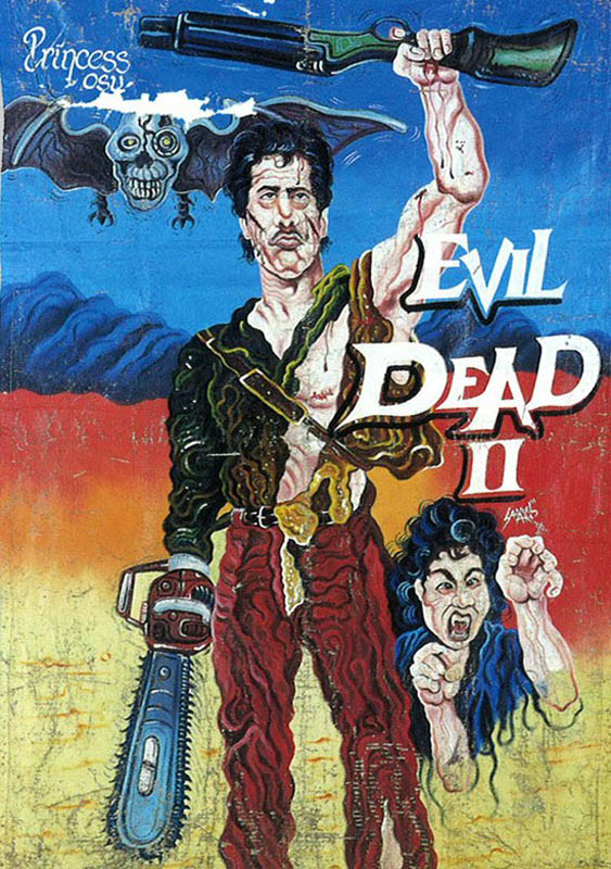 evil deade 2 Bootleg Movie Posters from Ghana